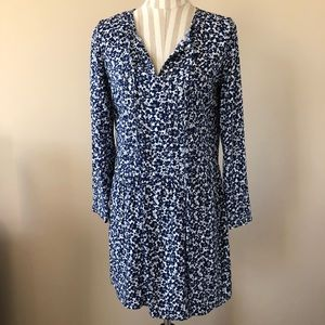 Old Navy Ling Sleeve Pleated Floral Print Dress